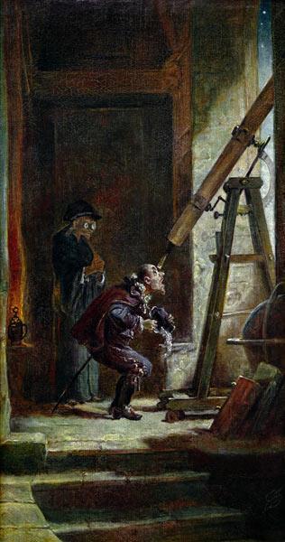 Spitzweg / El astrólogo / Pintura