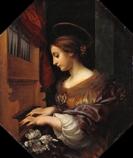 Titre de l'image : Carlo Dolci - Sainte Cécile.