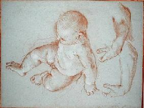 The Infant Romulus and two studies of a man's left arm