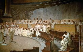 Cicero in the Senate Accusing Cataline