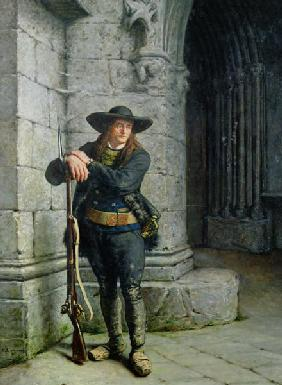 Armed Breton Guarding a Porch