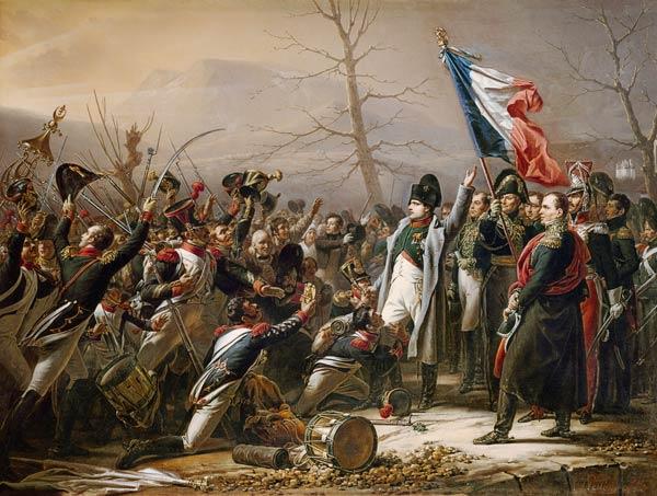 Le retour de Napoleon de l'île d'Elbe en - Charles Baron von Steuben en  reproduction imprimée ou copie peinte à l'huile sur toile