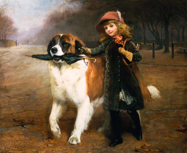 Titre de l'image : Charles Burton Barber - Off To School