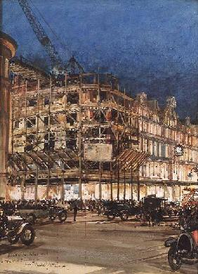 Construction of the New Building for Bourne and Hollingsworth, Oxford Street, London