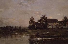 The Banks of the Seine at Portejoie