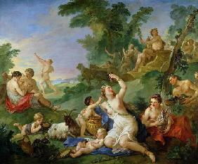 The Triumph of Bacchus (oil on canvas)