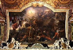 Franche-Comte Conquered for the Second Time, Ceiling Painting from the Galerie des Glaces