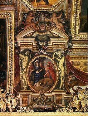 Spain Recognising the Pre-Eminence of France in 1662, Ceiling Painting from the Galerie des Glaces
