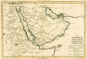 Arabia, the Persian Gulf and the Red Sea, with Egypt, Nubia and Abyssinia, from 'Atlas de Toutes les