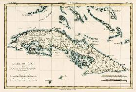 Cuba, from 'Atlas de Toutes les Parties Connues du Globe Terrestre' by Guillaume Raynal (1713-96) pu