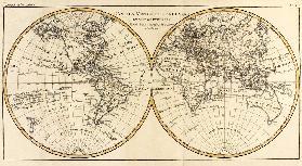 Map of the World in two Hemispheres, from 'Atlas de Toutes les Parties Connues du Globe Terrestre' b