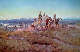 Riders of the Open Range (oil on canvas)