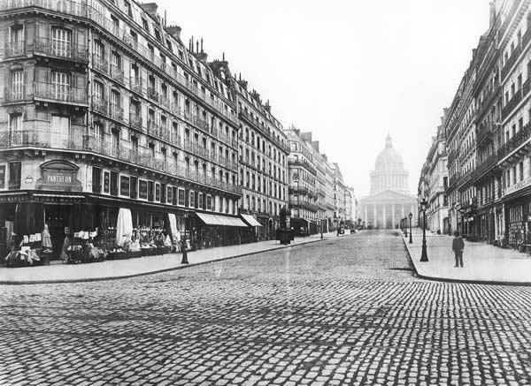 Paris, rue Soufflot, the Pantheon, 1858-78 (b/w photo)
