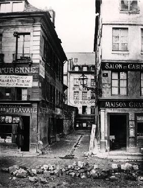 Paris 4 rue de Breteuil, view taken from rue Reaumur towards rue Vaucanson, 1858-78 (b/w photo)