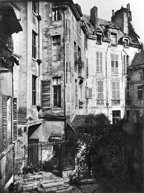 Rohan courtyard, Paris, 1858-78 (b/w photo)