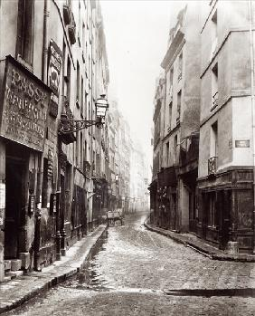 Rue Aumaire, from the Rue Volta, Paris, 1858-78 (b/w photo)