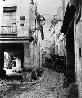 Rue Chanoinesse, from rue des Chantres, Paris, 1858-78 (b/w photo)