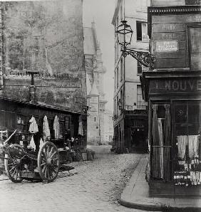 Rue de la Montagne Sainte-Genevieve, Paris, 1858-78 (b/w photo)