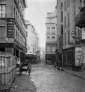 Rue des Bourdonnais (from rue de la Poterie) Paris 1858-78 (b/w photo)