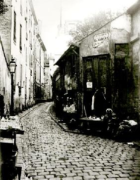 Rue du Jardinet and the cul-de-sac of Rohan, Paris, 1858-78 (b/w photo)