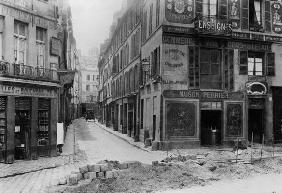 Rue Maitre Albert (from Quai de la Tournelle) Paris, 1858-78 (b/w photo)