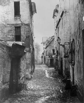 Rue Traversine, from rue d''Arras, Paris, between 1858-78 (b/w photo)