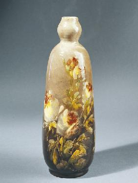 Bottle decorated with roses