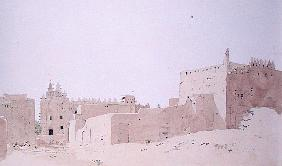 Djenne (Mali) Grande Mosquee, Monday, 2000 (w/c on paper)