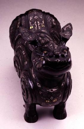 Pouring vessel in the form of an imaginary tapir-like beast, Ming dynasty