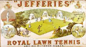 A Royal Lawn Tennis Set For 4 Players Made By Jefferies, Woolwich, Circa 1875