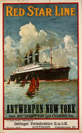 Red Star Line, Antwerpen-New York