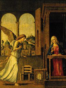 proclamation of mariae cima da conegliano. Black Bedroom Furniture Sets. Home Design Ideas