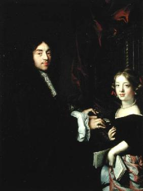 Portrait of Charles Couperin (1638-79) and the Daughter of the Artist