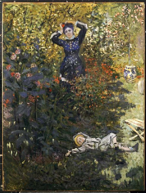 Camille and jean monet in the garden claude monet - Jardin paysager contemporain argenteuil ...