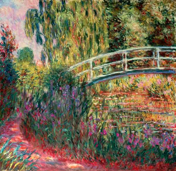 pont japonais dans le jardin de giverny claude monet. Black Bedroom Furniture Sets. Home Design Ideas