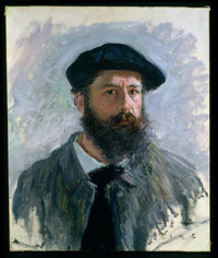 Autoportrait de Claude Monet.
