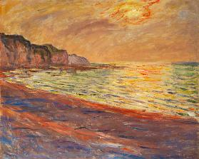 Strand in Pourville, Sonnenuntergang