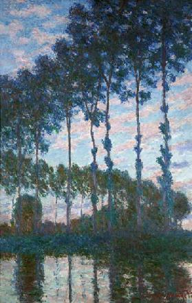 Poplars on the banks of the Epte, Evening effect