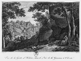View of Heloise grotto in the park of La Garenne at Clisson, illustration from ''Voyage pittoresque