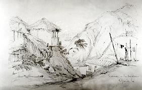 View of Valparaiso, 1834 (pencil & w/c on paper)