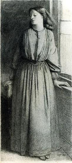 Elizabeth Siddal, May 1854 (pen and ink)