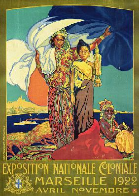 Poster advertising the 'Exposition Nationale Coloniale', Marseille