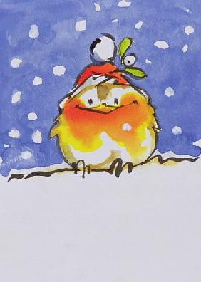 Christmas Robin (w/c and ink on paper)
