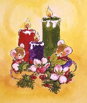 Mice with Candles