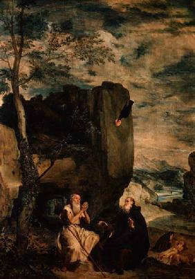 St. Anthony the Abbot and St. Paul the First Hermit