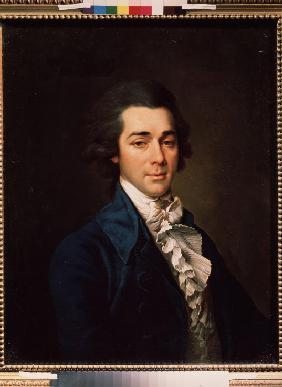 Portrait of the architect, artist and poet Nikolay A. Lvov (1751-1803)