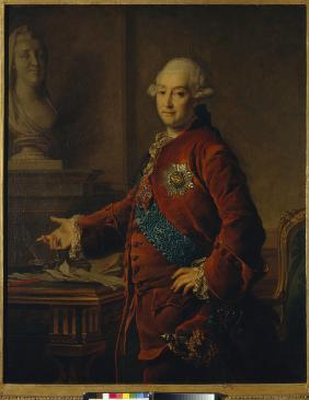 Portrait of Vice-Chancellor Prince Alexander Mikhaylovich Golitsyn (1723-1807)