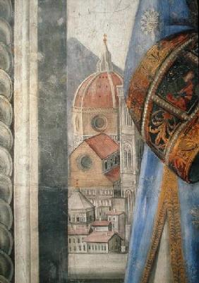 The duomo, detail from the fresco in the Sala dei Gigli