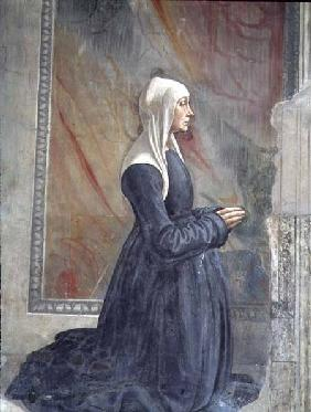 Portrait of a female member of the Sassetti family, from the Cycle of St. Francis, Sassetti chapel