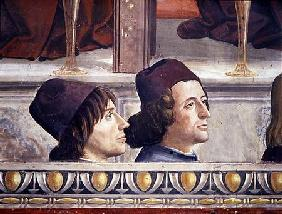 Portraits of Matteo Franco and Luigi Pulci (1432-84) from the Cycle of the Life of St. Francis
